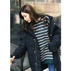 J-ANN - Padded Quilted Coat