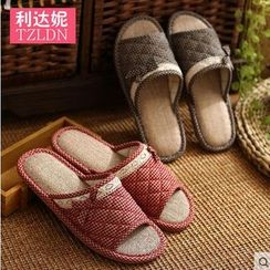 Rivari - Couple Matching Plaid Slippers