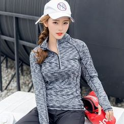 Cara Cloud - Half Zip Long Sleeve Sports Top