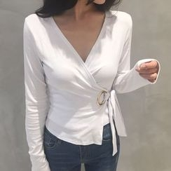 MATO - Long Sleeve Wrapped Top
