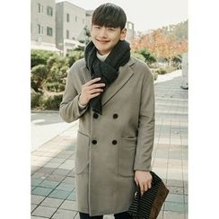 JOGUNSHOP - Double-Breasted Wool Blend Coat