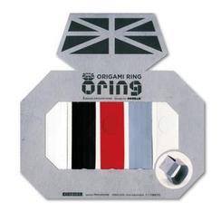 cochae - cochae : O-RING Origami Paper Ring Monochrome (030)