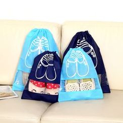 Fun House - Drawstring Travel Shoe Bag