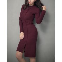 GUMZZI - Seam-Front Bodycon Dress