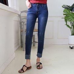 Envy Look - Cuffed-Hem Skinny Jeans