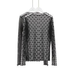 Momewear - Long-Sleeve Mesh Top