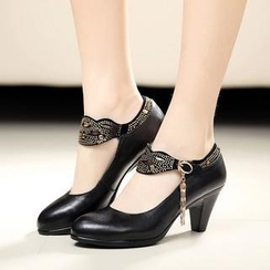 Hannah - Genuine Leather Mary Jane Pumps