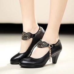 Hannah - 真皮瑪莉珍高跟鞋