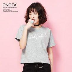 Onoza - 短袖字母T恤