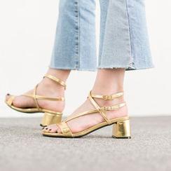 VIVIER - Ankle-Strap Patent Sandals