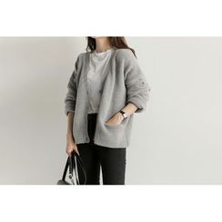 UPTOWNHOLIC - V-Neck Cardigan