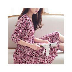 MASoeur - 3/4-Sleeve Patterned Wrap Dress