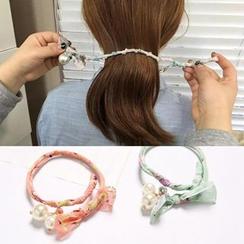 Annamae - 珠珠雪纺盘发带