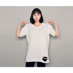 HOTPING - Distressed Cotton Top