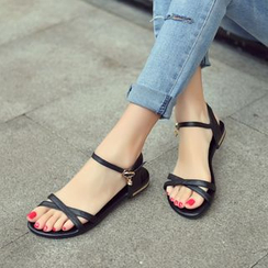Shoes Galore - Genuine Leather Flat Sandals
