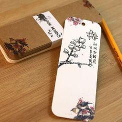 Paper Plane - Floral Print Bookmark