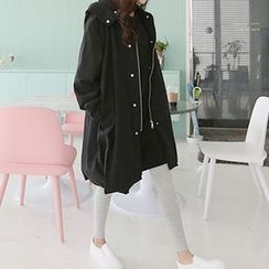 Hello sweety - Hooded Layered-Trim Parka