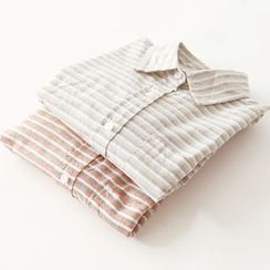 Bonbon - Striped Long-Sleeve Shirt