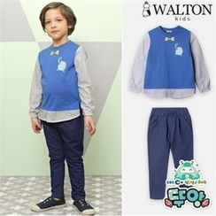 WALTON kids - Boys Set: Inset Shirt Top + Pants