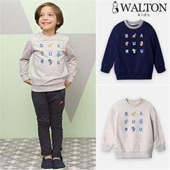 WALTON kids - Boys Lettering Sweatshirt
