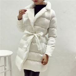 Octavia - Padded Coat with Sash