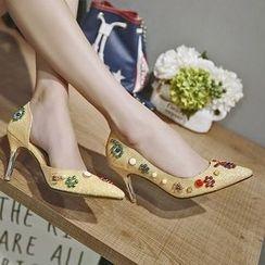 JY Shoes - Embellished High-heel Pumps
