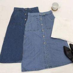 Visbee - A-Line Denim Skirt