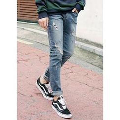 JOGUNSHOP - Distressed Straight-Cut Jeans