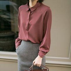 Miss Chipmunk - Long-Sleeve Chiffon Shirt