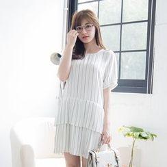 Tokyo Fashion - Short-Sleeve Striped Dress