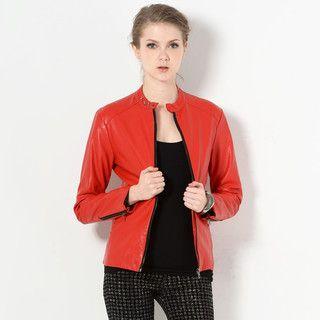 YesStyle Z - Faux Leather Jacket