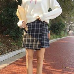 Bloombloom - Plaid A-line Skirt
