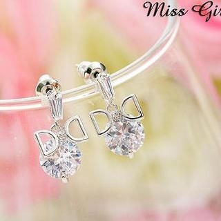 Miss Girl - Rhinestone Bow Earring