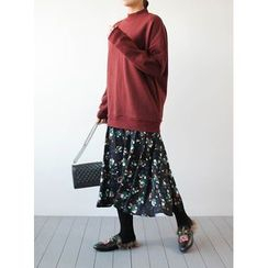 STYLEBYYAM - Inset Pullover Floral Patterned Dress