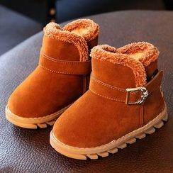 绿豆蛙童鞋 - 童装饰扣短款雪靴