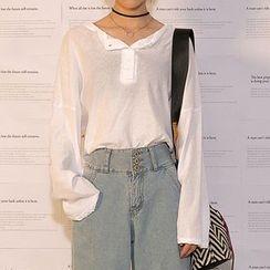 Heynew - Plain Long Sleeve T-Shirt