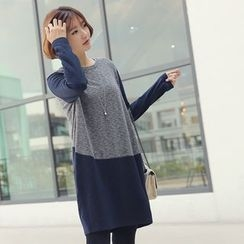 CLICK - Color-Block T-Shirt Dress
