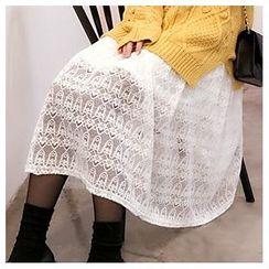 YUKISHU - Lace Midi Skirt