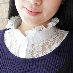 MIOW - 荷葉邊蕾絲裝飾領子