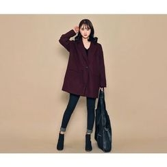 HOTPING - Single-Breasted Loose-Fit Coat