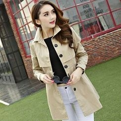 Beekee - Single-Breasted Trench Coat
