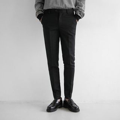 Seoul Homme - Flat-Front Slim-Fit Pants