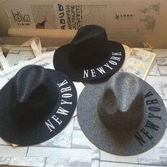 Hats 'n' Tales - Letter Knit Fedora Hat