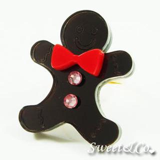 Sweet & Co. - Sweet Mirror Brown Gingerbread Swarovski Crystal Gold Ring