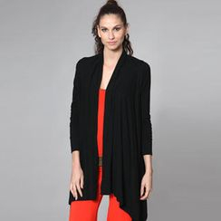 Almaz.C Lifestyle - Asymmetric-Hem Long Open Cardigan