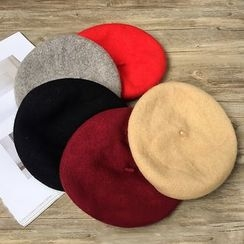 Pompabee - 纯色贝雷帽