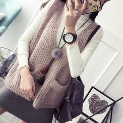 TIMI - Pocketed Knit Vest