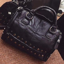 Ms Bean - Genuine Leather Studded Tote