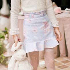 Candy Rain - Kids Ruffle Floral Skirt