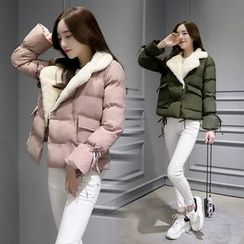 AiSun - Notch Lapel Padded Coat